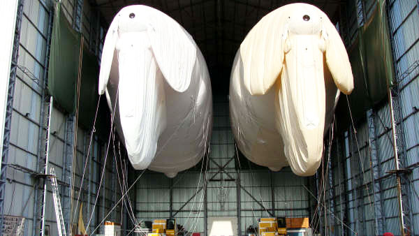 parachute training solution in hanger