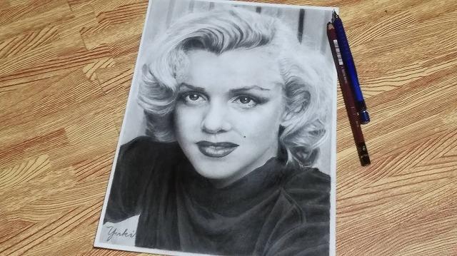 鉛筆画『マリリンモンロー』