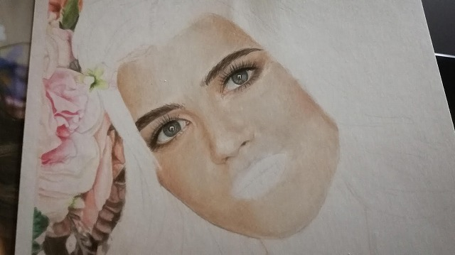 色鉛筆画『女性3』
