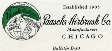 1930 Paasche Bulletin 2 - PAASCHE Airbrush - Big Name in Airbrush History