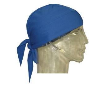 skull cap blue