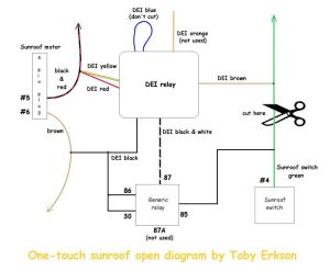 OneTouch Sunroof Open (DEI Timer Relay) Installation