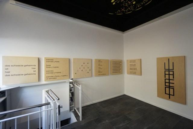 eugen gomringer - poema - teil II - galerie wuensch aircube - 2015