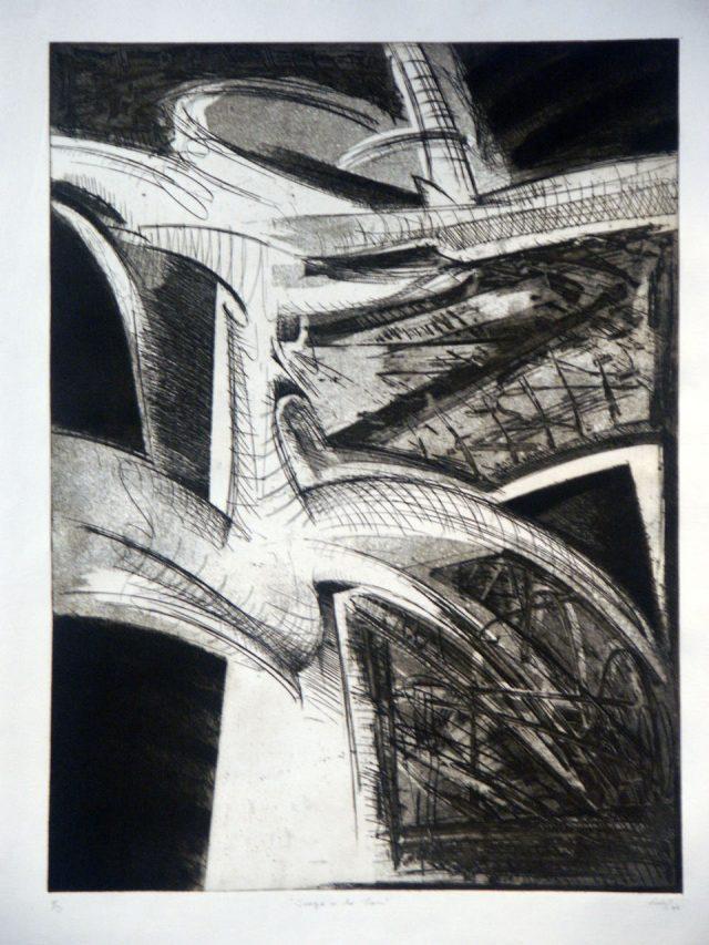 aircube project 3 - ALEJANDRO SAINZ - S/T, carbon/papel, 100x70cm, 1997