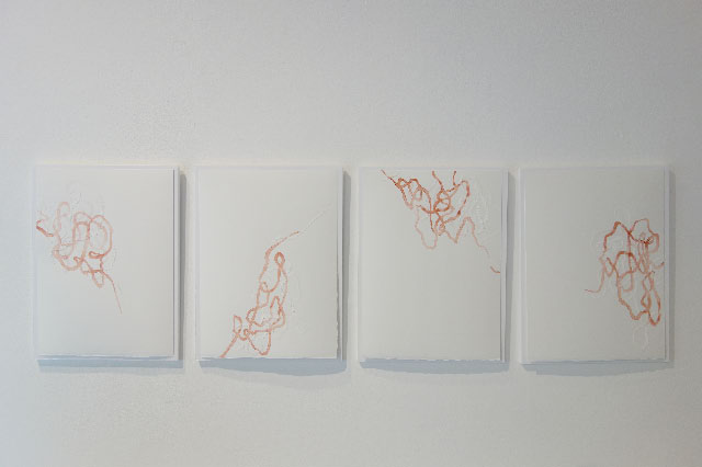 ANDREAS KOCKS - #1335-1338w - 2013 - aquarell/büttenpapier/geschnitzt - 38x28cm - 4teilig