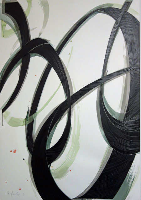 ANDREAS KOCKS - #1323w - 2013 - aquarell/graphit/büttenpapier/geschnitzt - 130x90cm