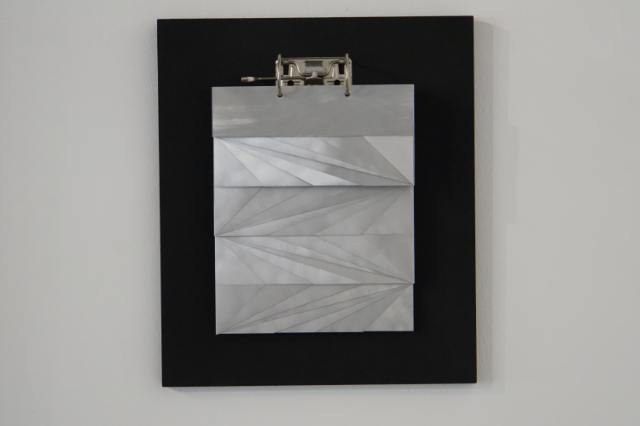 DANINO BOZIC - DIAGONAL WALKING - metal on wood - 38,5x45cm - 2008