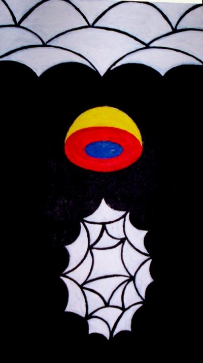 ROGELIO GONZALEZ HARTMANN - SUPERUNIVERSO - acrilico/lienzo - 93x45cm - 2004