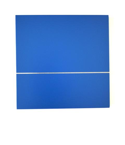 HELLMUT BRUCH - horizontale oder vertikale - edelstahl/acrylfarbe - 1996 - 55x5x0,3cm
