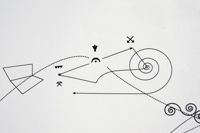 STEFAN GOMRINGER - papier/tusche - 150x180cm - 2014 - detail