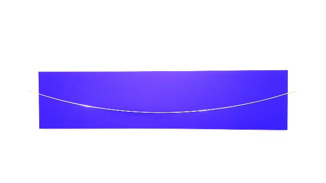 HELLMUT BRUCH - in blau - edelstahl in transsatco - 2001/2014 - foto gwa