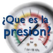Que es la presión