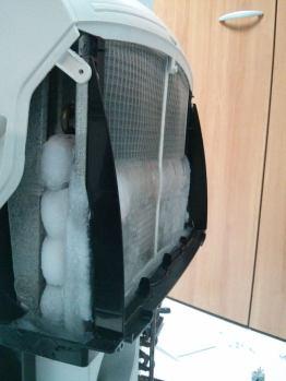 Aire acondicionado portátil congelado