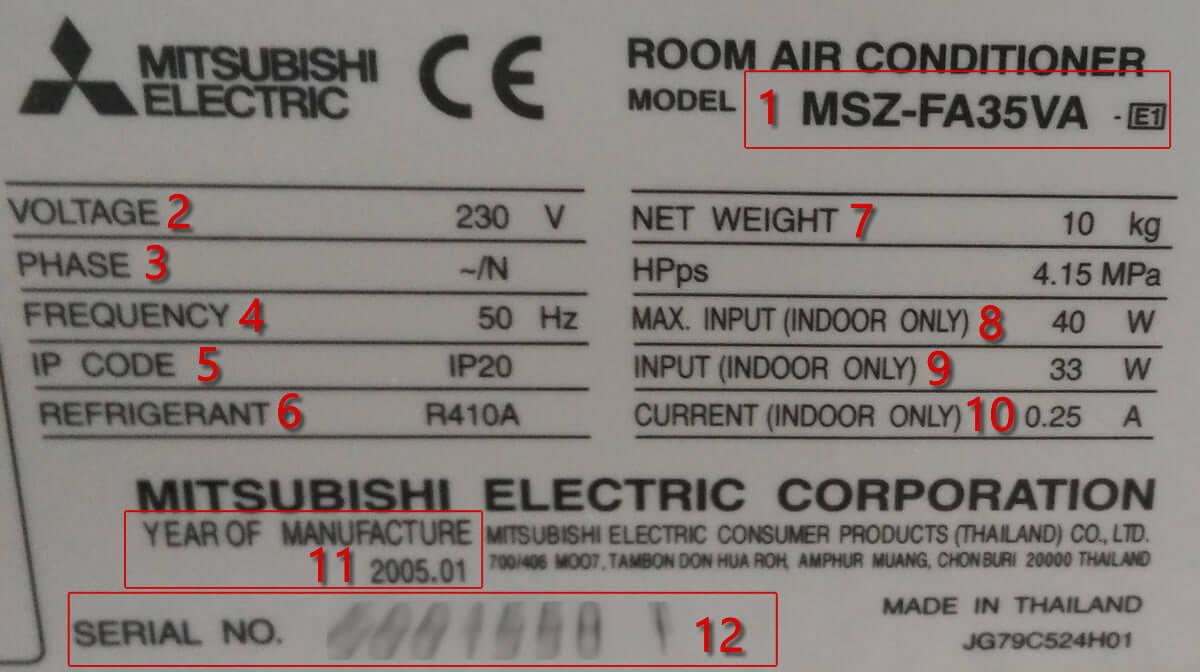 Caracter 237 Sticas T 233 Cnicas Msz Fa35va E1 Aire Acondicionado