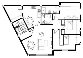 Plano vivienda aire acondicionado