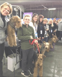 ARADV Representatives and their Airedales at Meet the Breeds
