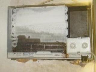 Se congela parte del panal del aire acondicionado