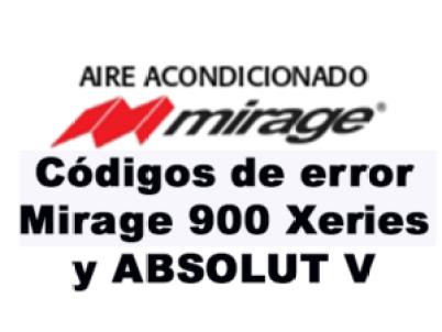 Códigos de error Mirage 900 Xeries y ABSOLUT V