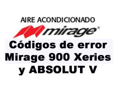Códigos de error Mirage 900 Xeries y ABSOLUT V