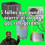 Cargar gas refrigerante fallas frecuentes