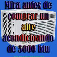 Comprar aire acondicionado 5000 btu