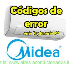 Códigos de error Midea