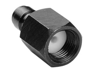 "Air Venturi Male Quick-Disconnect, 1/8"" BSPP Female Threads, Steel, Rated to 5000 PSI, Incl. Delrin Seal"