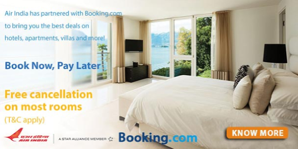 Image result for Air India partners with booking dot com for hotel booking