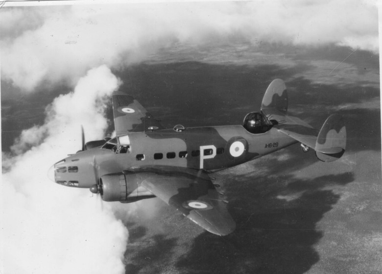 An RAAF Lockheed Hudson, similar to the aircraft that crashed in 1942.