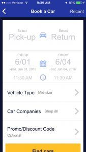 Southwest Airline mobile app