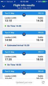 Ryanair flight status