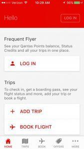 Qantas Airlines mobile