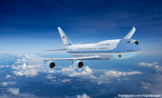 The 747-8 will be the new replacement to carry around the US President - Image: Jon Ostrower