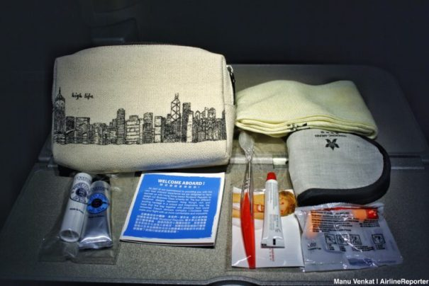 A Hong Kong Airlines amenity kit that could do some folks more good than sitting in a tub!