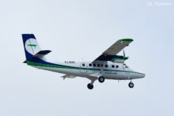 Divi Divi Air flight 278 from CUR (Curacao) carried by PJ-DVE, a de Havilland Canada DHC-6 Twin Otter.
