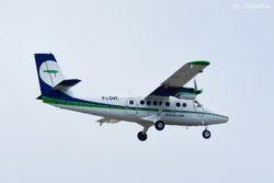Divi Divi Air flight 278 from CUR (Curacao) carried by PJ-DVE, a de Havilland Canada DHC-6 Twin Otter.