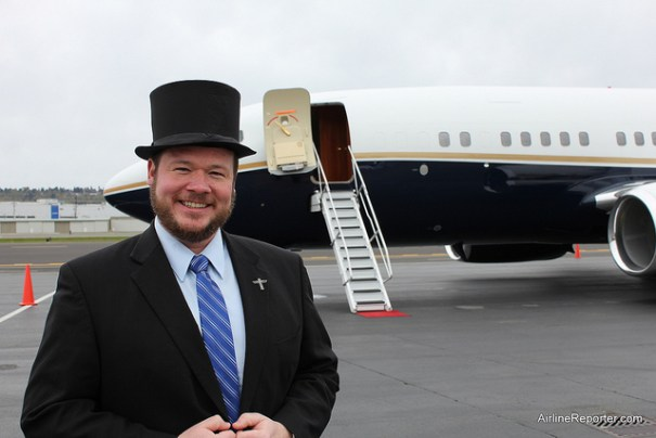Building an empire includes top hats and private 737s.