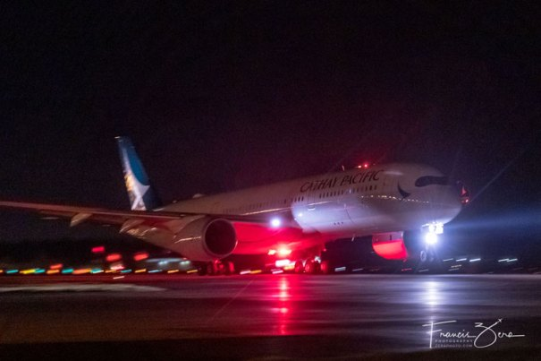 Cathay Pacific's inaugural departure from Sea-Tac Airport