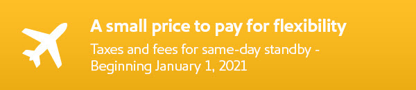 Some possible fees for same-day standby. - Image: Southwest