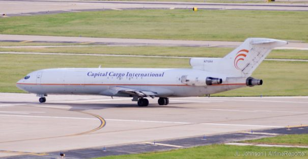 N713AA, a Boeing 727 seen in St. Louis, September, 2010.