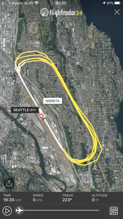 Last weekend's pattern solo, recorded via the magic of ADS-B