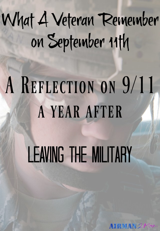 September 11th came this year and for the first time in over a decade I wasn't in uniform.  I was a cadet in the Reserve Officer Training Corp for four years and then served six years as an officer in the United States Air Force.  For this year, some reason it hit me that this day so many years ago my life changed.