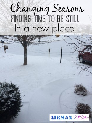 Changing Season: Finding time to be still n a new place. FMFriday: Still