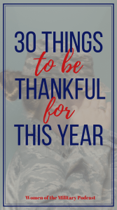 Are you thankful during this holiday season. Sometimes it easy to forget how lucky we are to have the things we have. Here are 30 things to remind you to be thankful