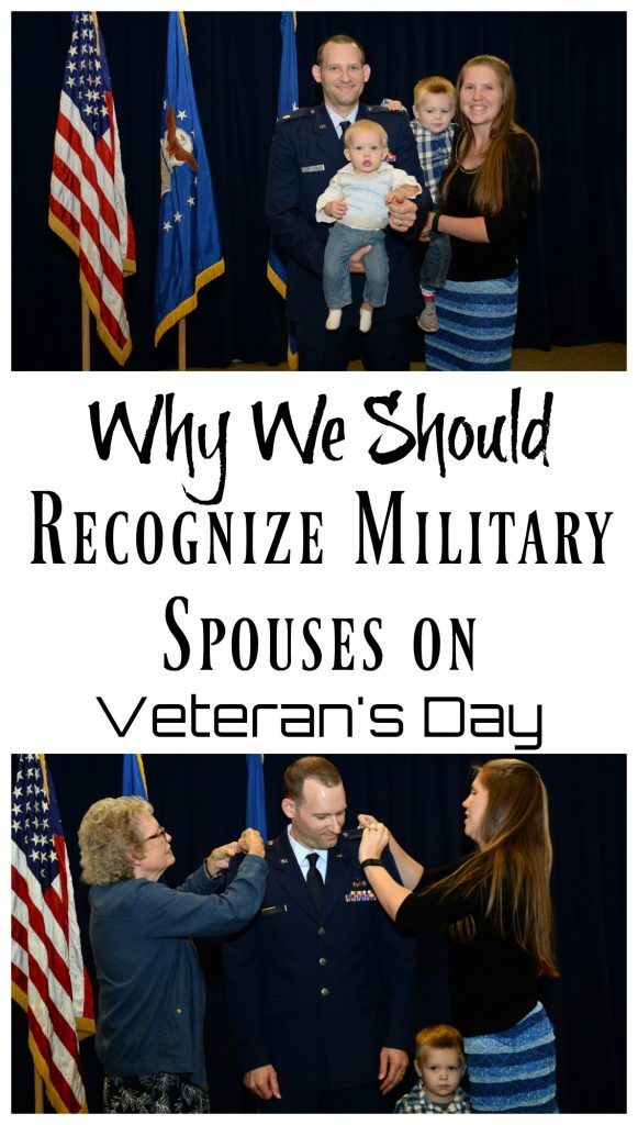 Have you ever wondered why military families stand with their veteran on Veteran's Day? I did to, then I became a military spouse and I know that they make sacrafices too.