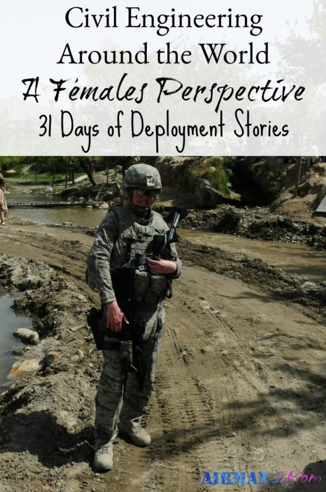 Kristina has deployed 5 times through her military career as an Air Force Civil Engineer. She also served a year in Korea. She has so many stories to tell. Read part of her story here.