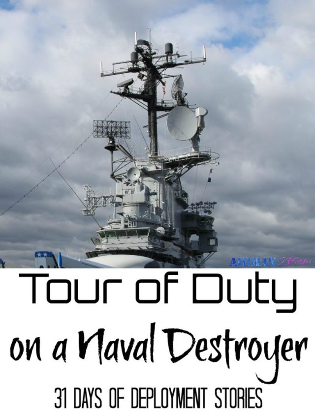 Sharing her tour of duty aboard a navy destroyer off the cost of the horn of Africa and Japan.