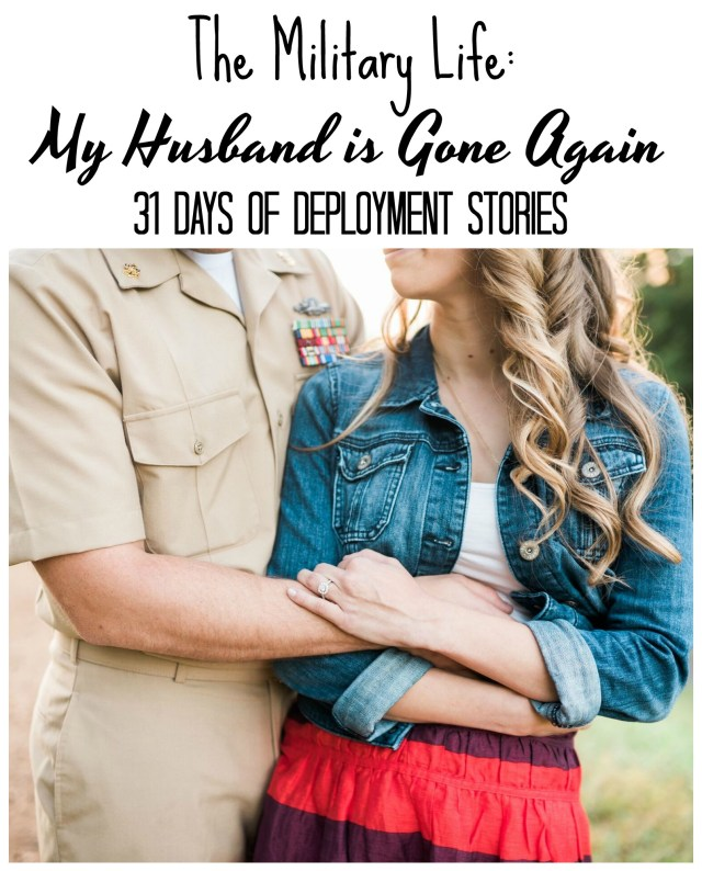 Rachel's husband is gone pretty regularly and she shares how she goes through each deployment. I recently was featured on her blog series, check it out here. Today I get to share her story: