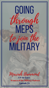 Are you considering joining the military and want to learn more about the process? Listen to Mariah's story of joining the military from talking to recruiter, ASVAB and MEPS. #jointhemilitay #military #womenofthemilitary