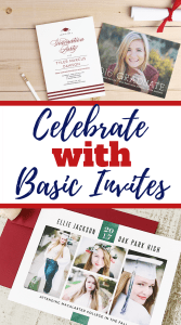 Celebrate with Basic Invites. Get your college graduation invites today! #basicinvites #invitations #graduation #graduationinvites